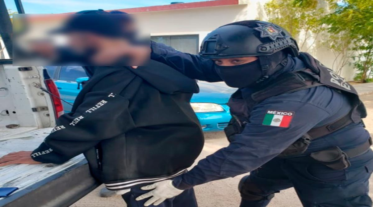 Detienen a presunto narcomenudista en La Paz