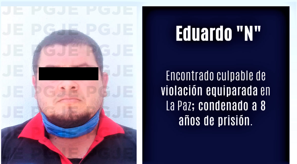 Sentenciado 8 años de prisión acusado de violación equiparada en La Paz