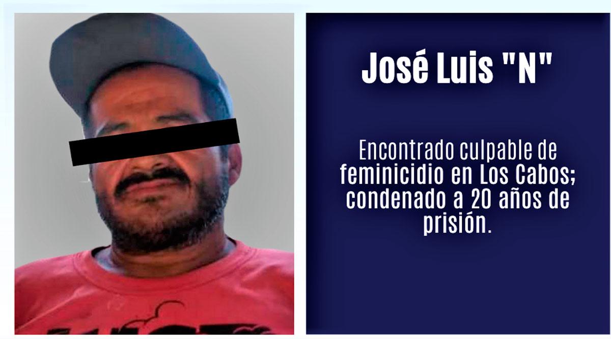Condenan con 20 años de prisión a sujeto acusado de feminicidio en Los Cabos