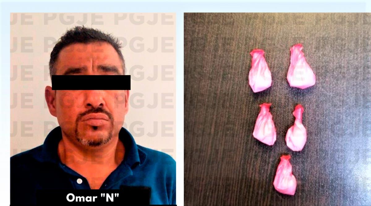 Aseguran a un sujeto en posesión de 325 dosis de cristal en La Paz
