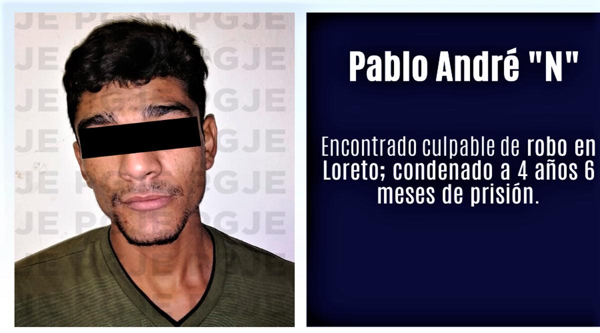 Sentenciado a 4 años 6 meses por robo en Loreto