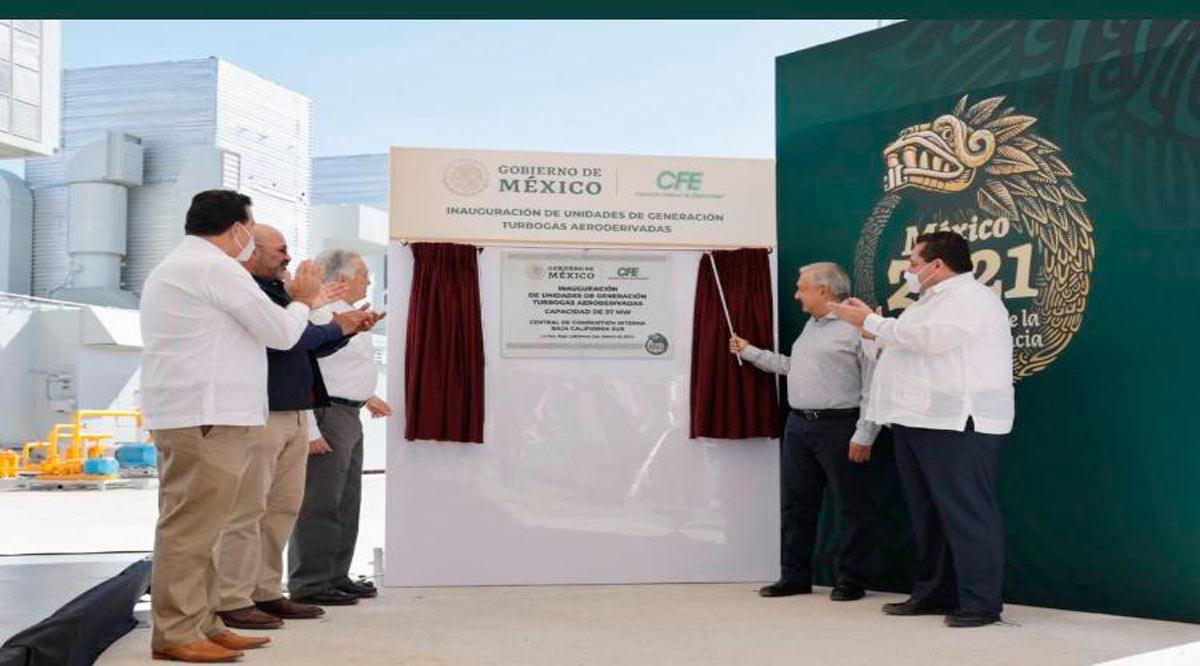 Compromete Federación 4 nuevas unidades aeroderivadas y  construcción de una nueva planta termoeléctrica