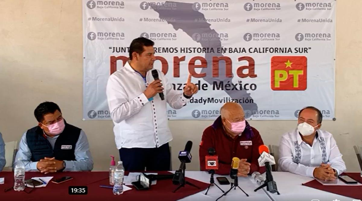Advierte Morena que vigilará al Gobernador para que no 'meta las manos' en la elección de BCS