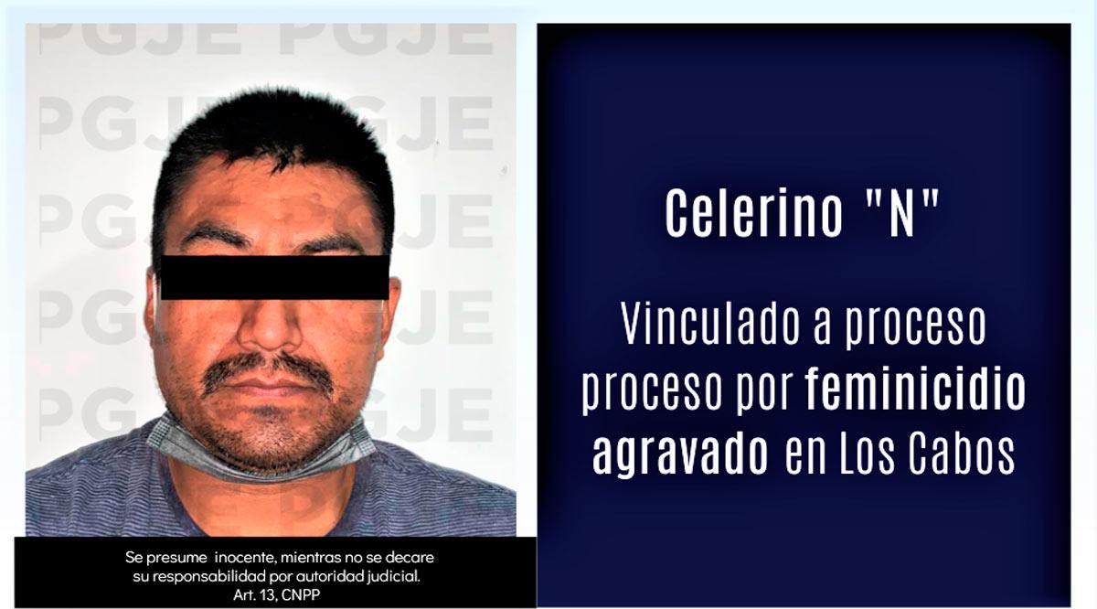 Vinculan a proceso y prisión preventiva a sujeto imputado por feminicidio en Los Cabos