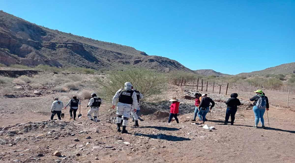 Integrantes de la Comisión Estatal de Búsqueda de Personas hicieron un hallazgo en El Vizcaíno