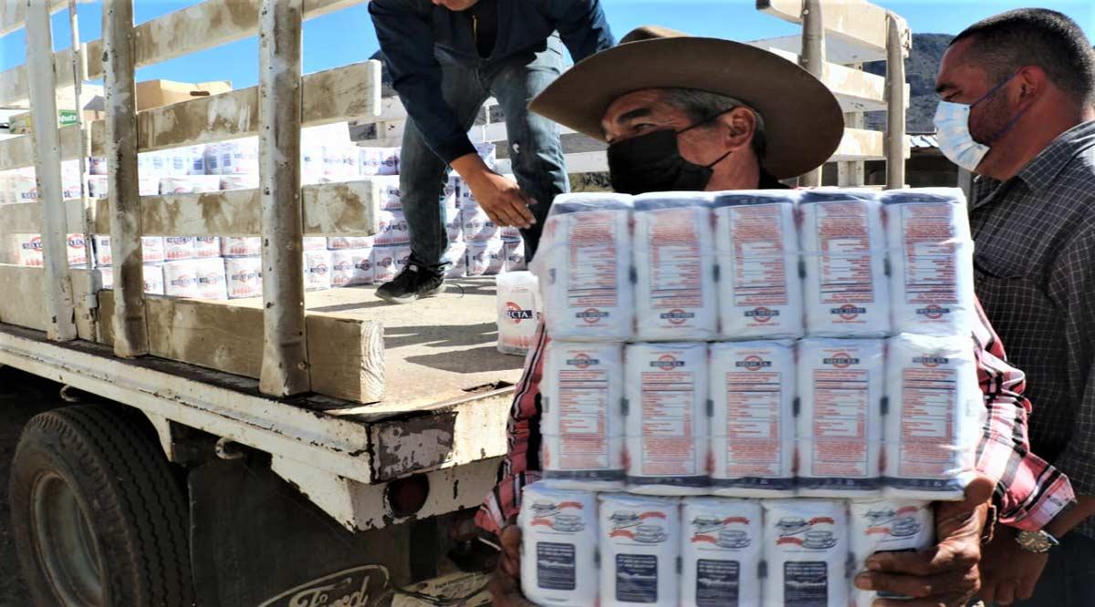 Se reparten más de 2 toneladas de despensa en Mulegé
