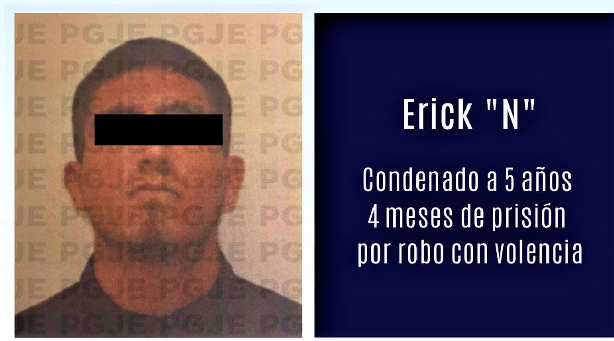 Por robo con violencia en La Paz estará en prisión 5 años 4 meses