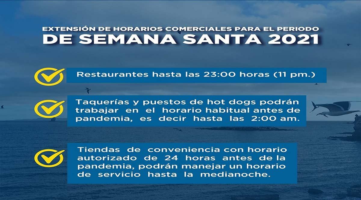 Flexibilizarán en Loreto los horarios laborales de los negocios durante Semana Santa