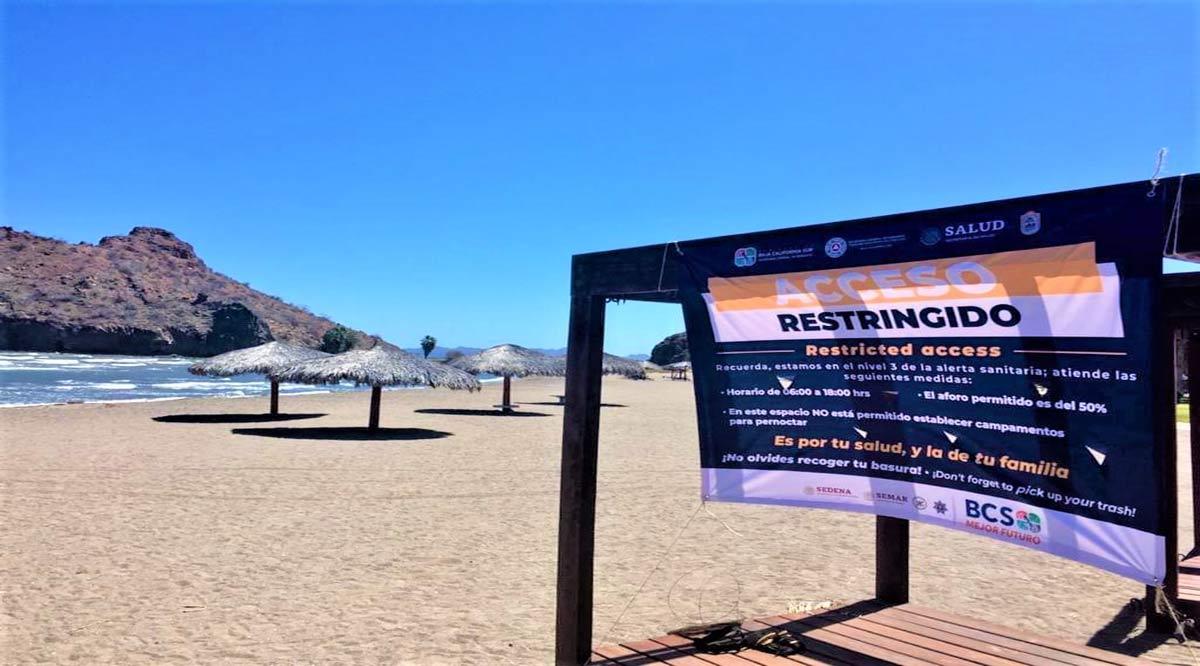 Señalizan playas de Loreto con medidas sanitarias