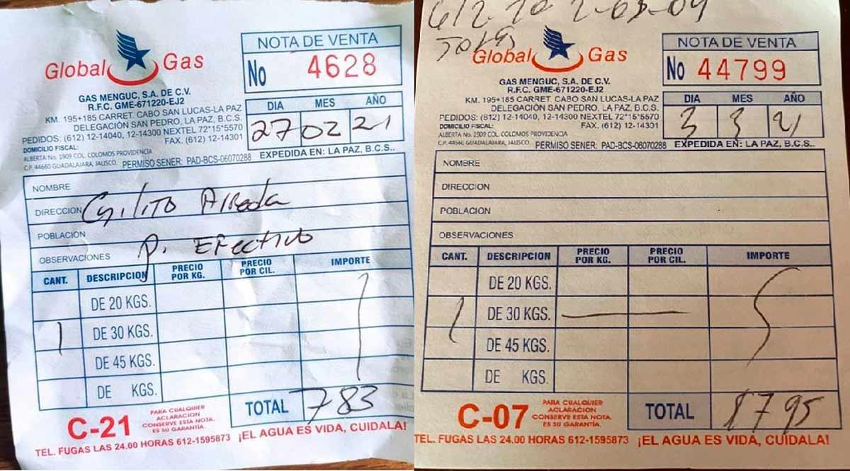 Cilindro de gas en BCS ronda los 800 pesos; hay molestia ciudadana