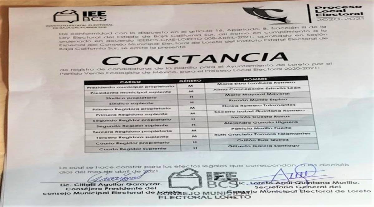 Rechaza Elba Lombera la candidatura del PVEM a la Alcaldía de Loreto