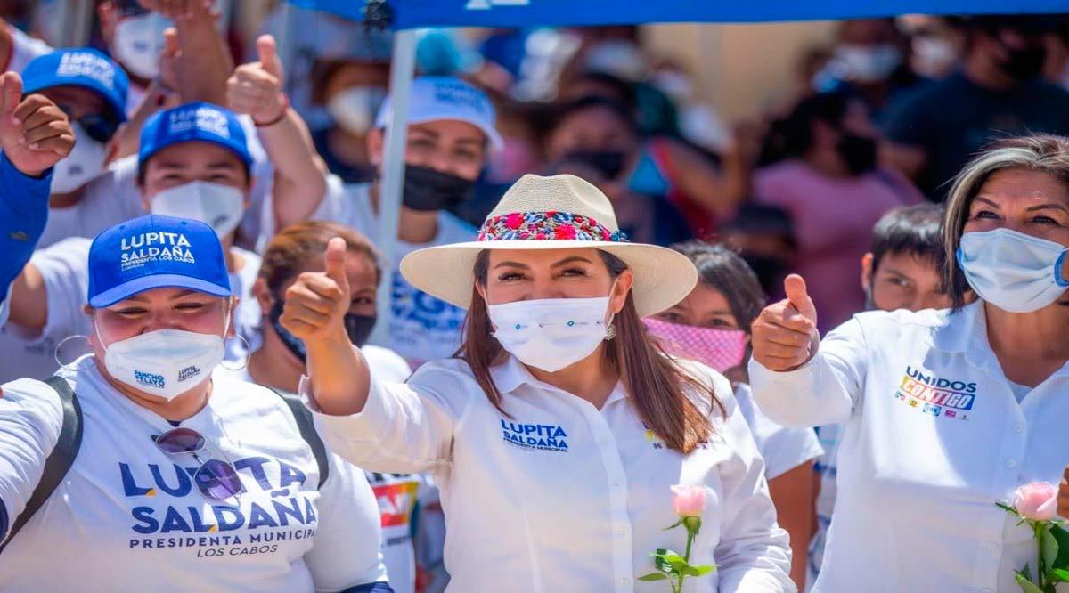 """""""Ampliaré las fuentes de producción de agua y una distribución eficiente en Los Cabos"""": Lupita Saldaña"""