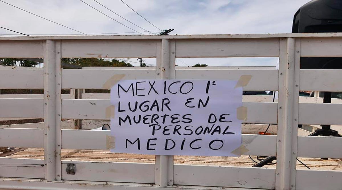 Trabajadores de la salud protestan en La Paz porque no los han vacunado
