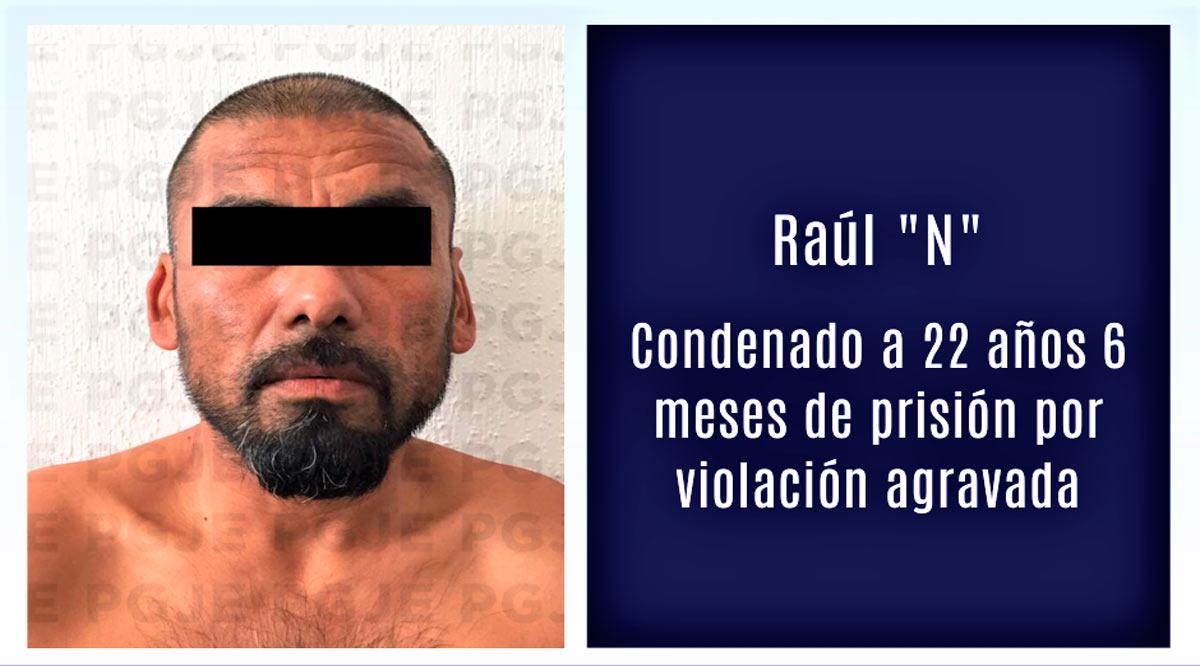 Sentencian a violador 22 años 6 meses de prisión