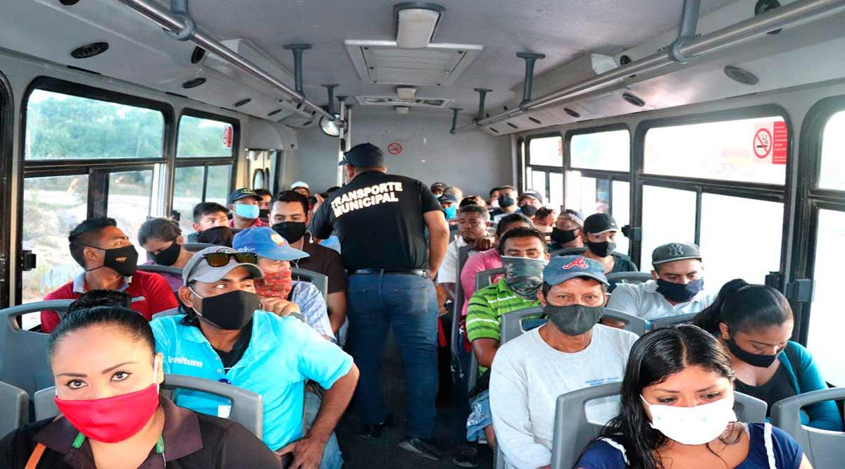 Se mantienen filtros de seguridad y salud en el transporte público de Los Cabos