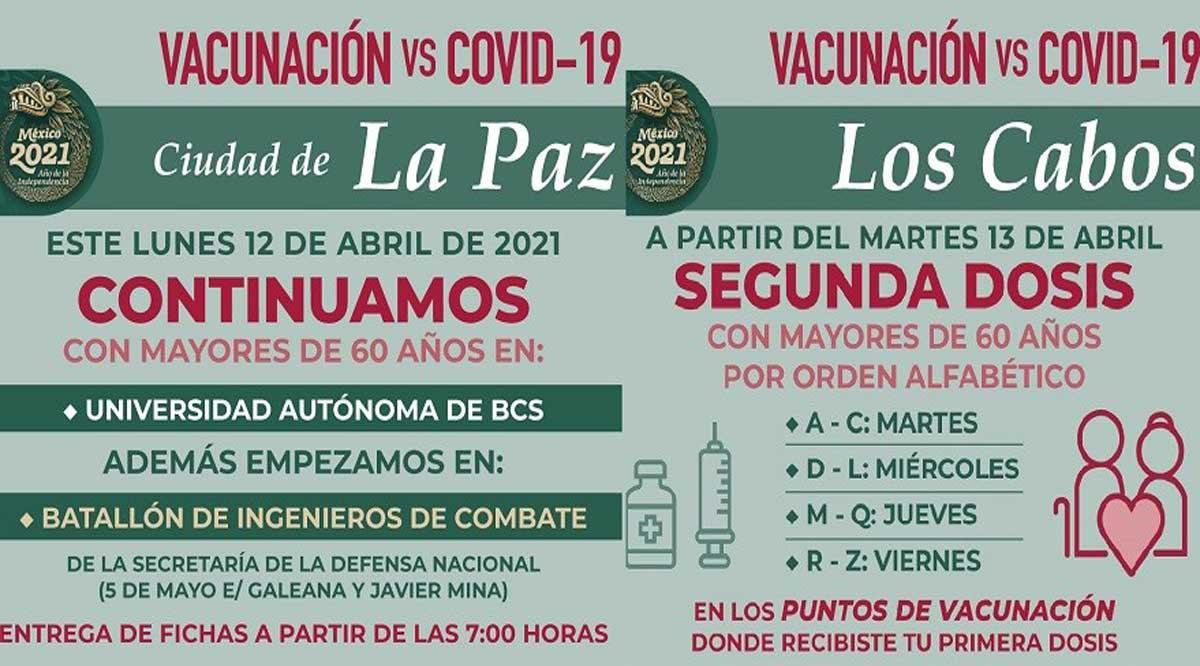 Comienza a llegar más vacuna a BCS; esta semana jornada en La Paz, Los Cabos y Comondú