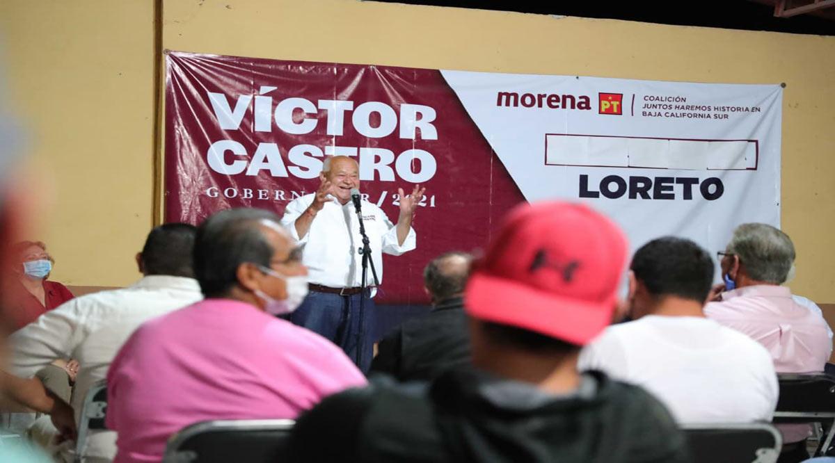"""""""Impulsará Morena en BCS a la educación como motor de la transformación"""": Víctor Castro"""