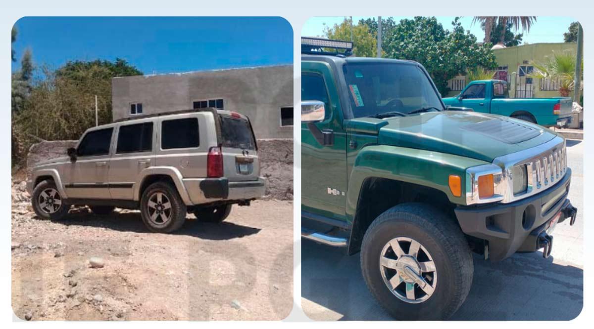 Detienen a 2 personas en Los Cabos y aseguran par de vehículos en Comondú y Mulegé