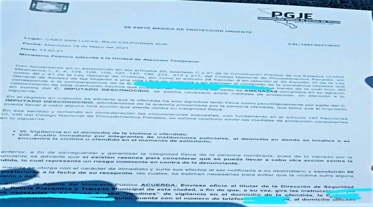 Emite PGJE medida de protección urgente a promotora de Lupita Saldaña