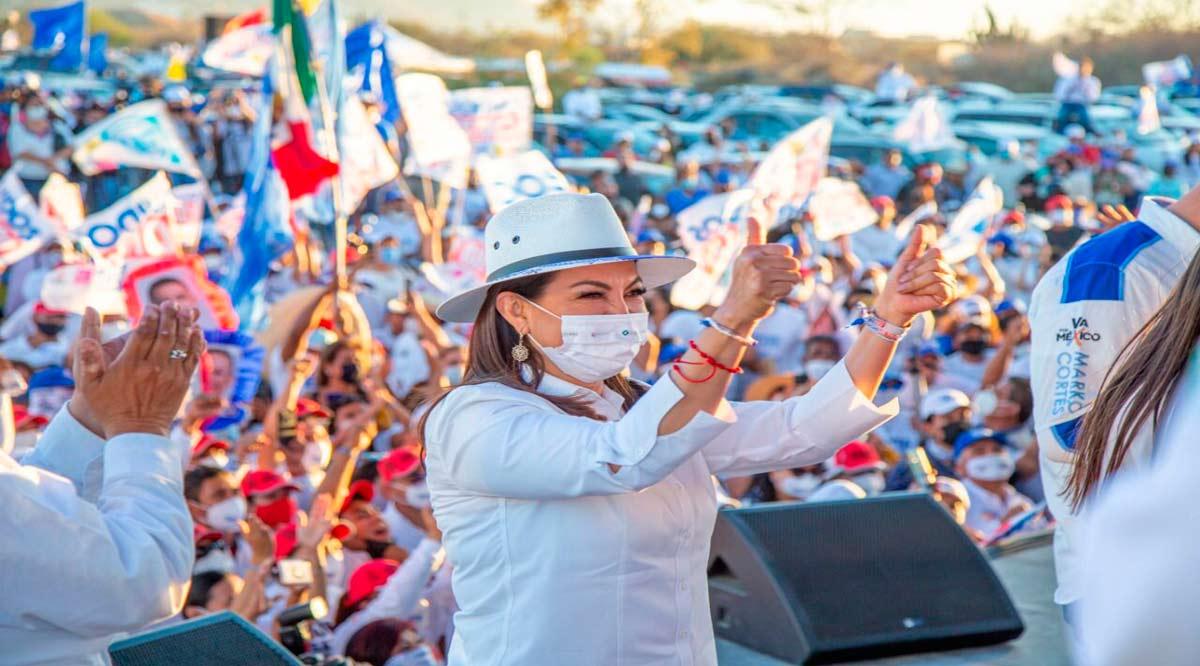 """""""Unidos contigo vamos a cambiar Los Cabos"""": Lupita Saldaña"""