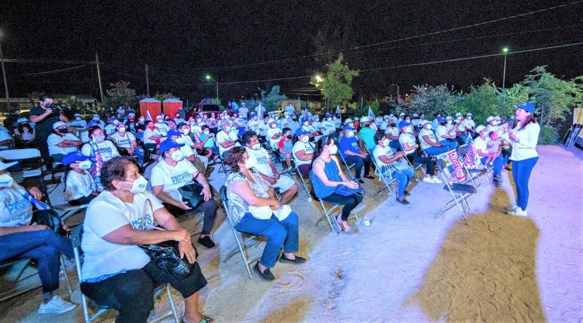 """""""Lo que se siembra se cosecha; encabezamos todas las encuestas"""": Lupita Saldaña"""