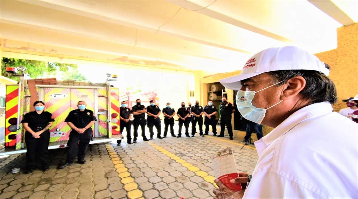"""""""Tendrán los bomberos de Los Cabos mi respaldo"""": Oscar Leggs"""