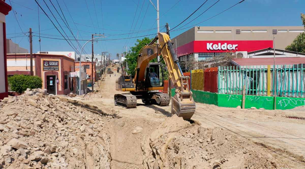Cierre total de 10 calles en Los Cabos por procesos de pavimentación