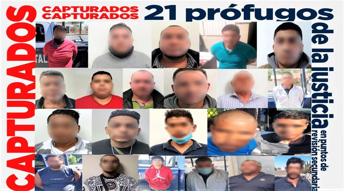 Se han detenido a 22 personas prófugas de la justicia en lo que va del año en BCS