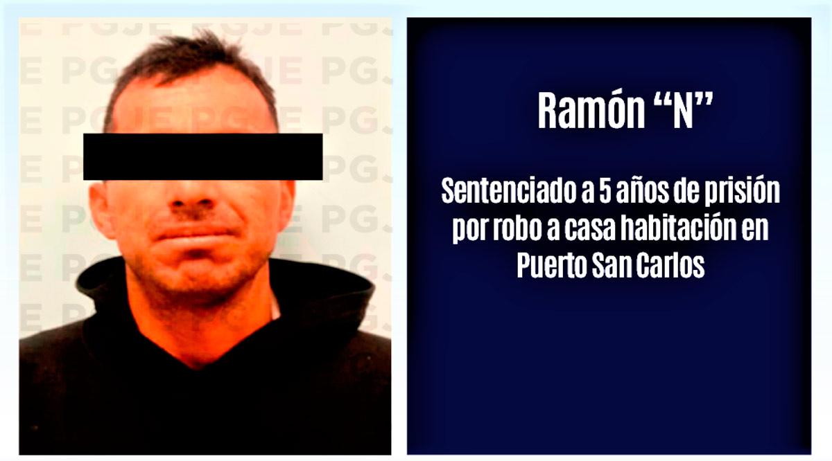 """Sentenciado a 5 años de prisión """"El Güero Monce"""" por robo en Comondú"""