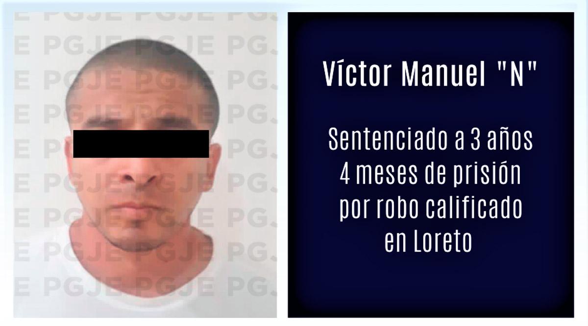 Pasará 3 años 4 meses en prisión por robo en Loreto