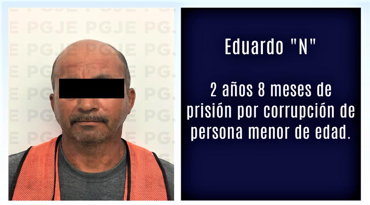 Por corrupción de menores le imponen 2 años 8 meses de prisión