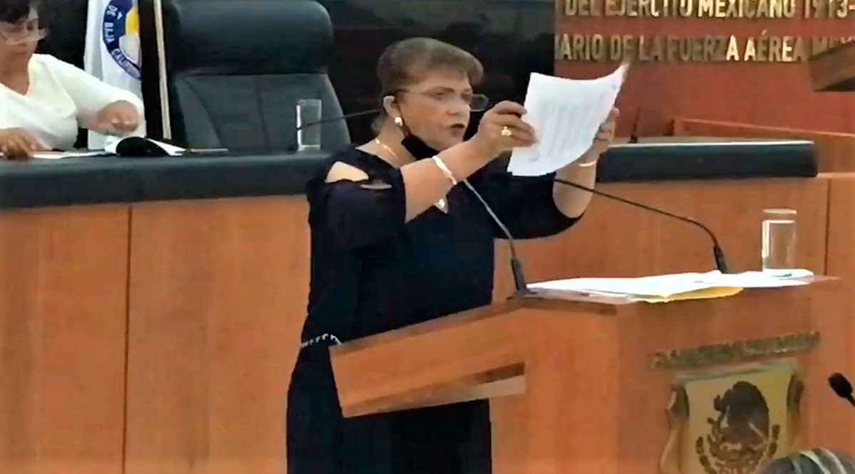 Expone diputada Rocha malos manejos en el Congreso de BCS y pide se abra investigación
