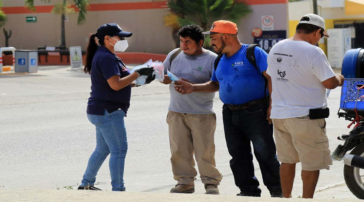 """Más de 7,500 cubrebocas se han entregado en la cruzada """"Otra Vez No"""" que se realiza en Los Cabos"""