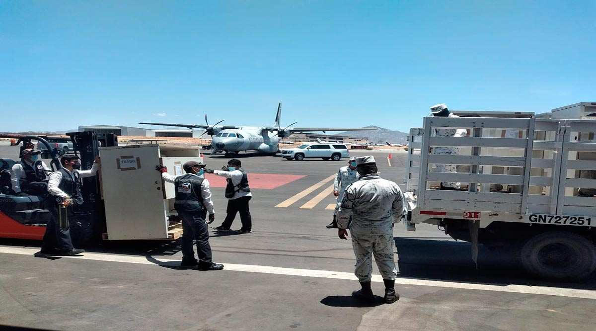 Arribó a Los Cabos apoyo médico y equipo para atender pacientes con Covid-19