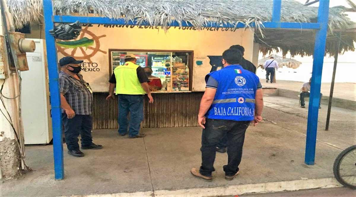 Supervisan Coepris y Protección Civil comercios en Loreto