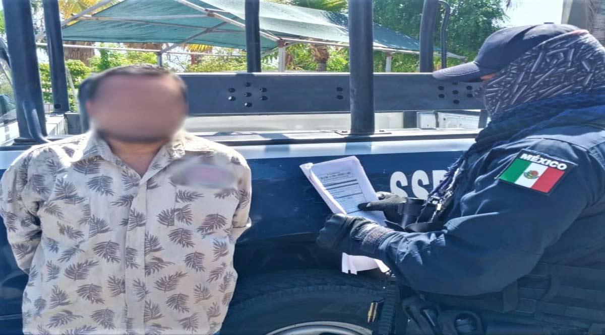 Detienen a sujeto que era buscado por robo a casa habitación en La Paz