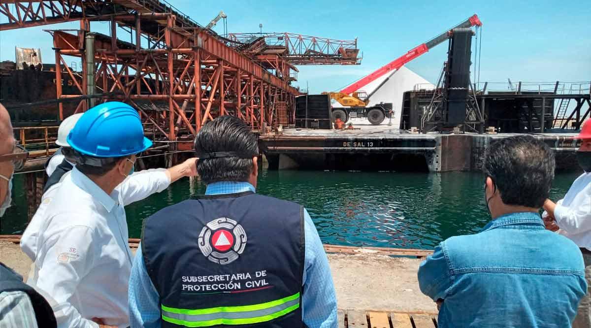 Supervisan medidas de seguridad en Exportadora de Sal
