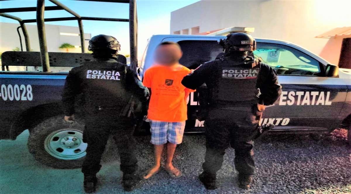 Capturan a sujeto prófugo de la justicia por delito de robo en La Paz