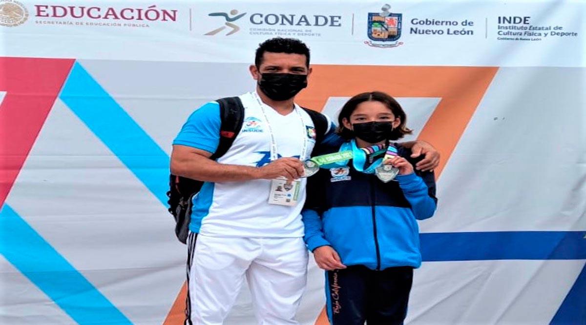 Obtuvieron dos platas en clavados Nelly Flores y Mateo Nolasco