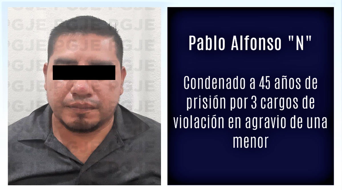 Condenan a sujeto a 45 años de prisión por violación agravada contra menor de edad en Loreto