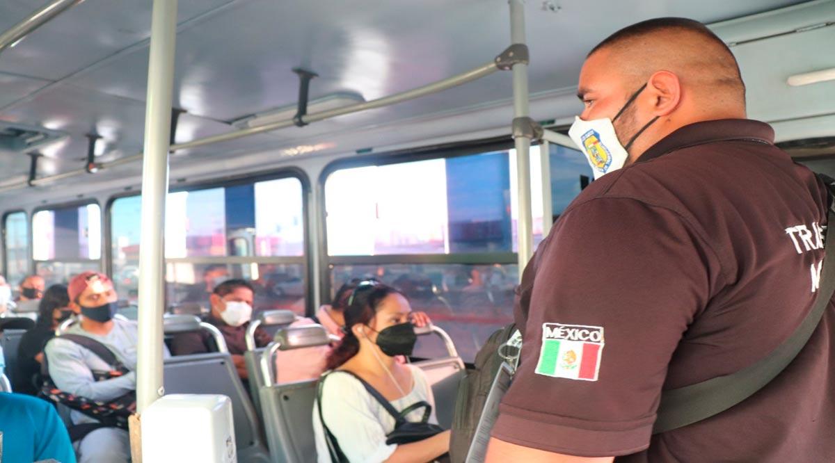 Intensifican inspección en camiones urbanos para evitar contagios de Covid-19 en CSL