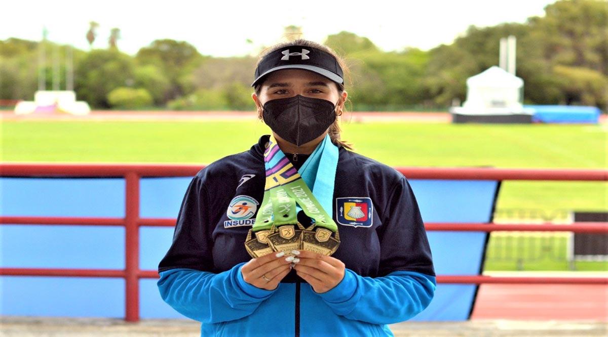 Triple medalla de oro para Viviana Díaz en tiro con arco
