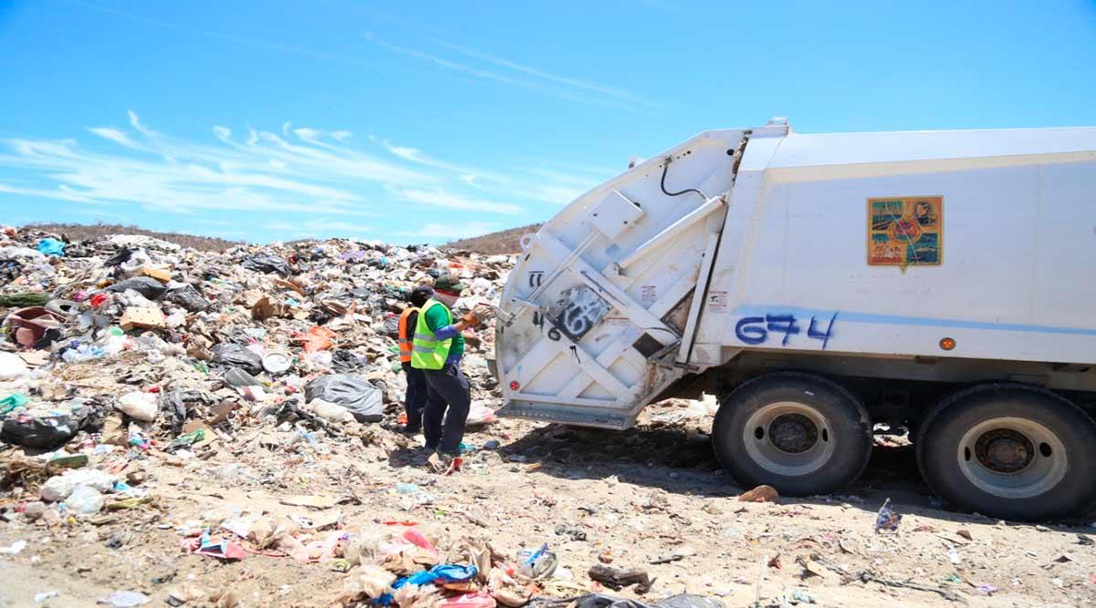 Se han retirado cerca de 290 mil toneladas de basura en Los Cabos de 2018 a la fecha