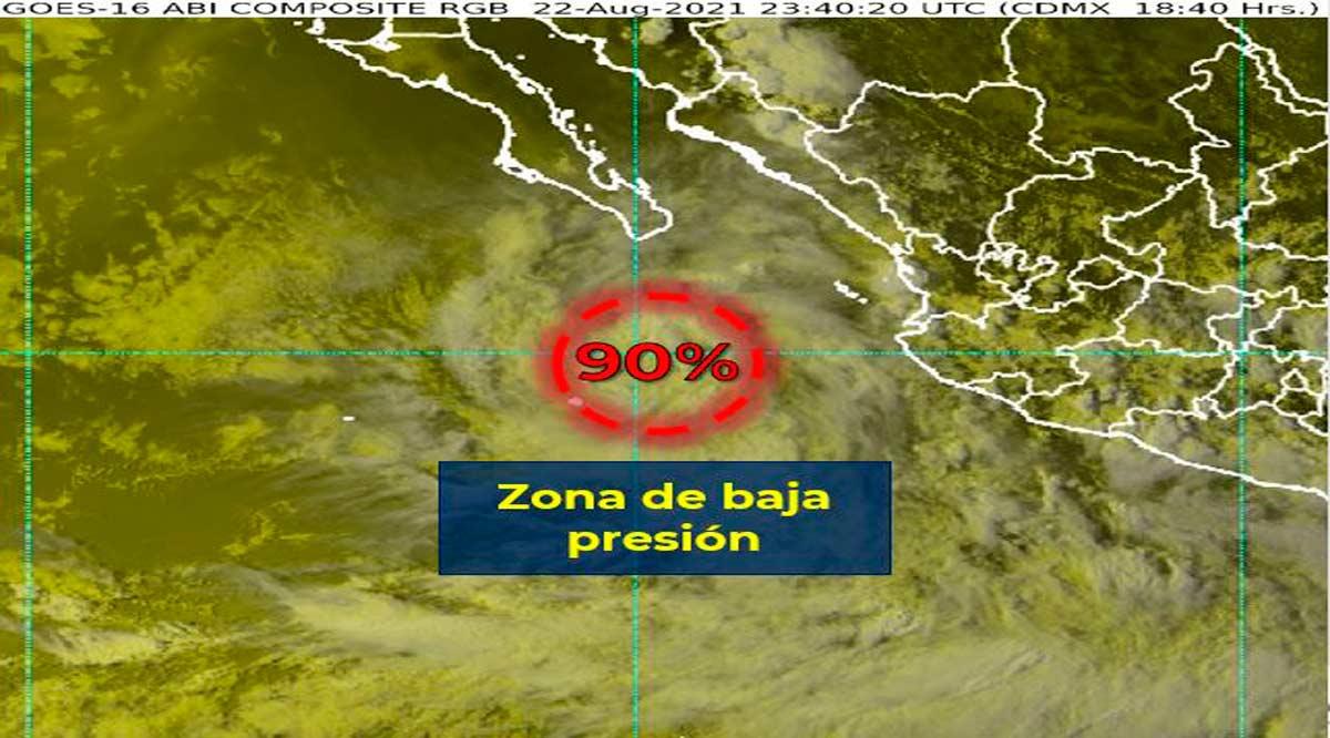 Se pronostican lluvias para BCS por zona de baja presión