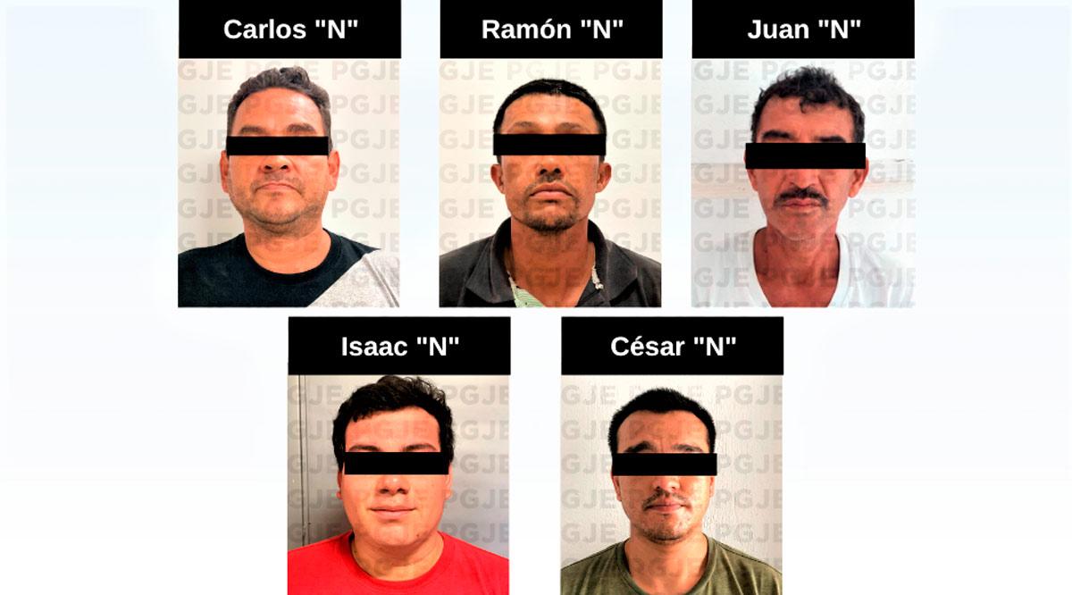 Detienen a 5 sujetos en BCS por la comisión de diversos delitos