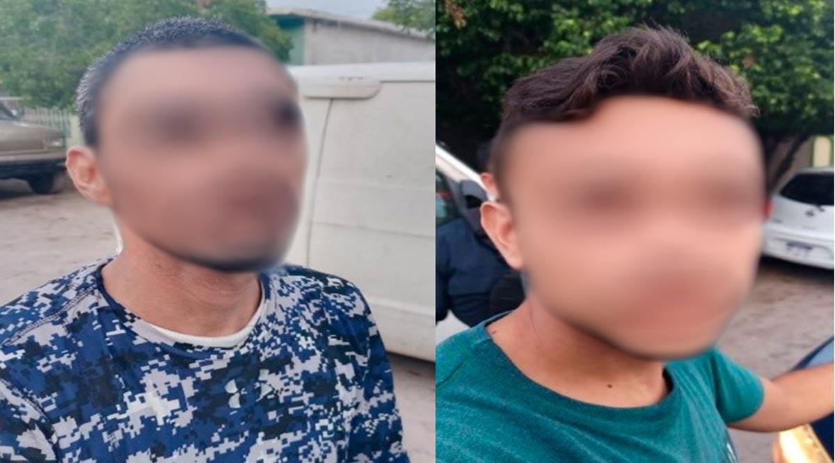 Detienen a par de sujetos cuando huían en vehículo robado en La Paz