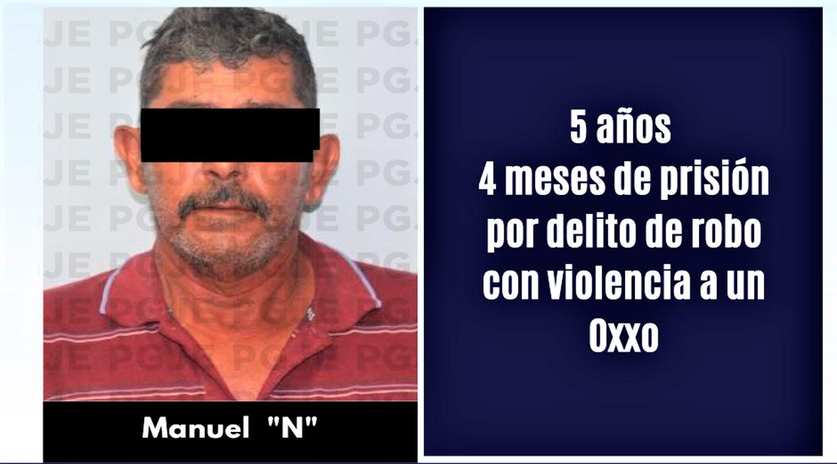 Sentenciado a 5 años 4 meses de prisión por robo con violencia en La Paz