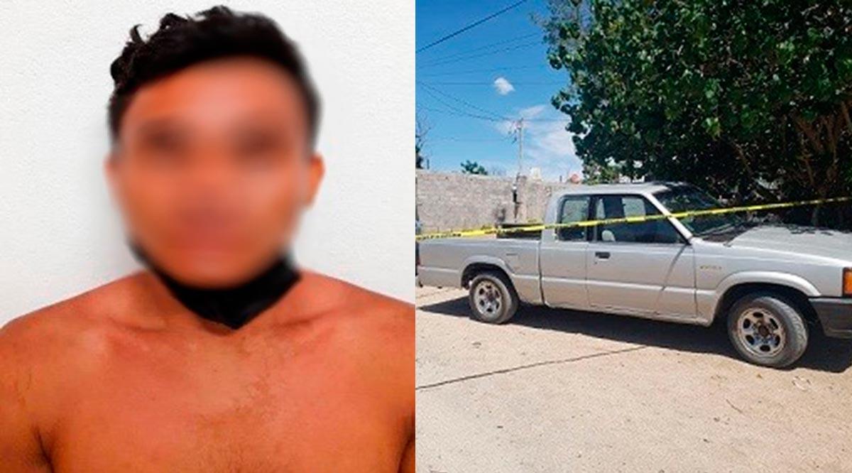Detienen a sujeto con vehículo robado en La Paz