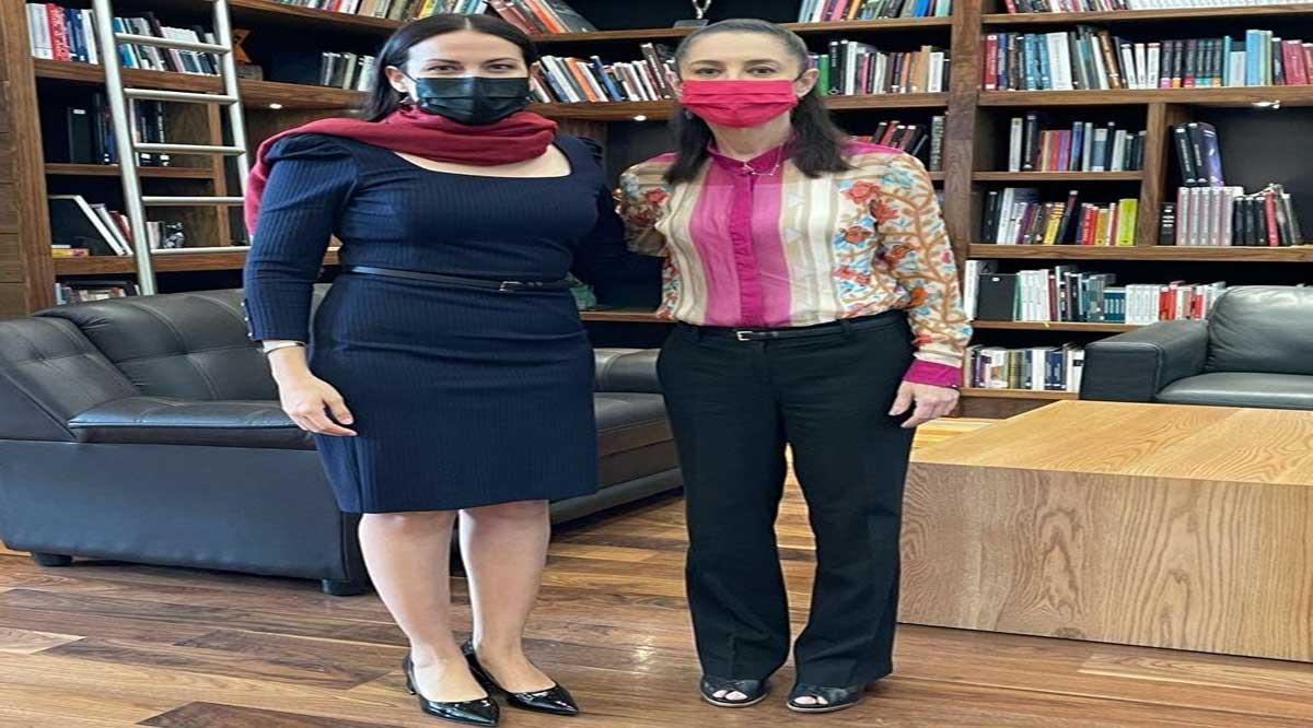 Dialogan Milena Quiroga y Claudia Sheinbaum sobre temas municipales