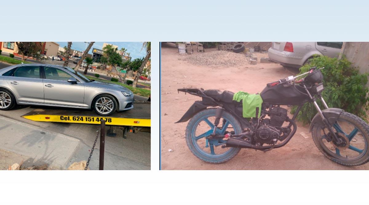 Localizaron 2 vehículos con reporte de robo en Los Cabos